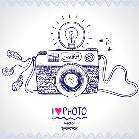esboço de câmera — Ilustração de Stock #36839999