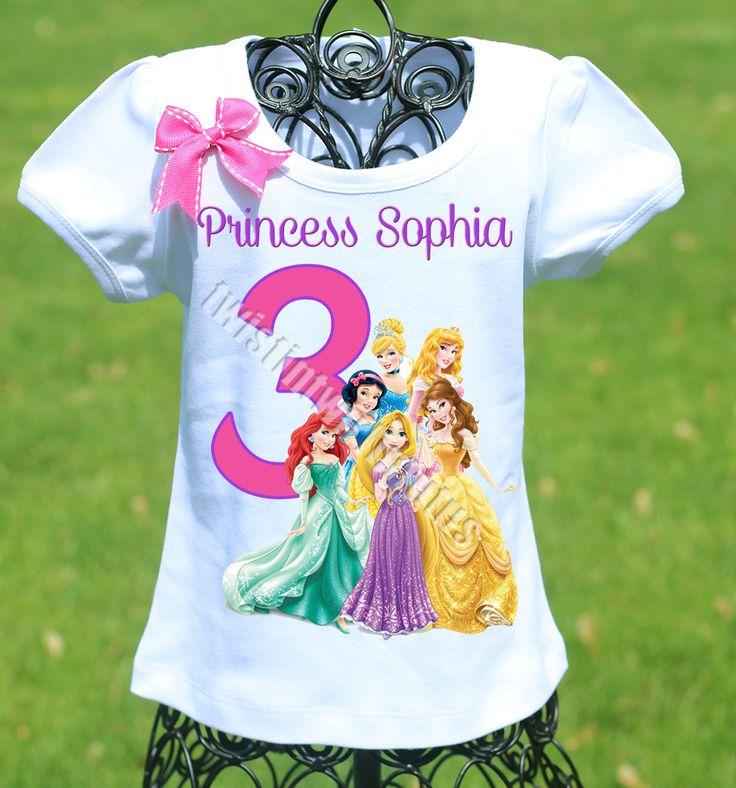 Disney Princesses Birthday Shirt Shirts Disney Princess