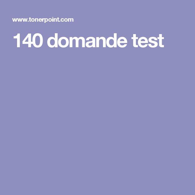 140 domande test