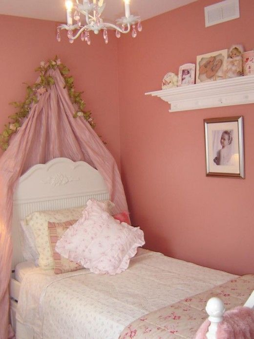 pink shabby chic kids room