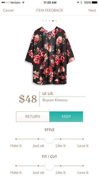 Le Lis Bryson Kimono {SL: I like this kimono's print better than many others I've seen here on Pinterest.}