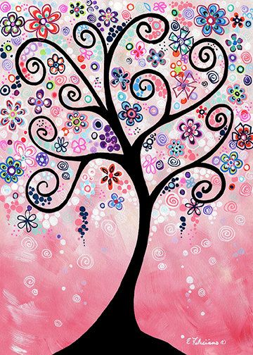 Original Acrylic Tree Painting Tree Art by NYoriginalpaintings, $99.99