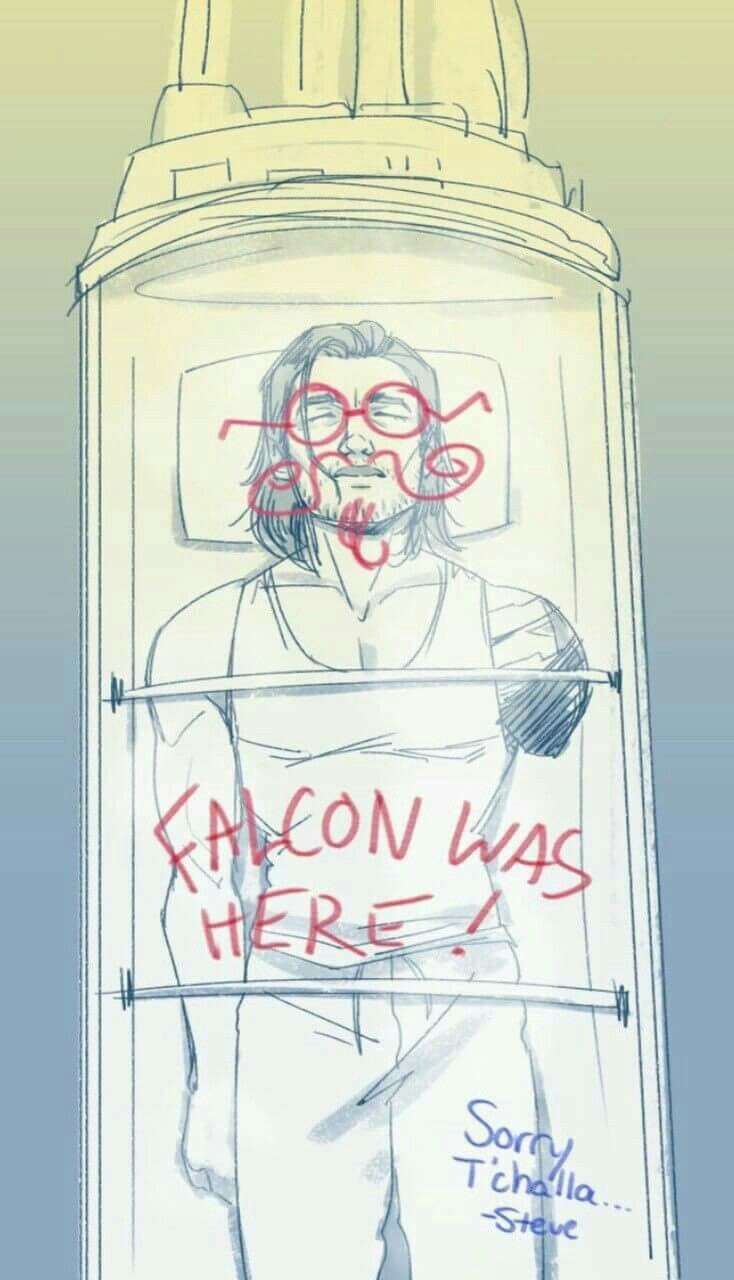 Bucky Barnes - Winter Soldier - Falcon - Sam Wilson - Marvel