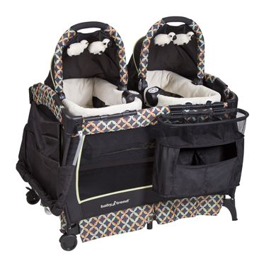 Registry Basics for Twins - Lucie's List Multiples - babytrend-twins playard bassinet