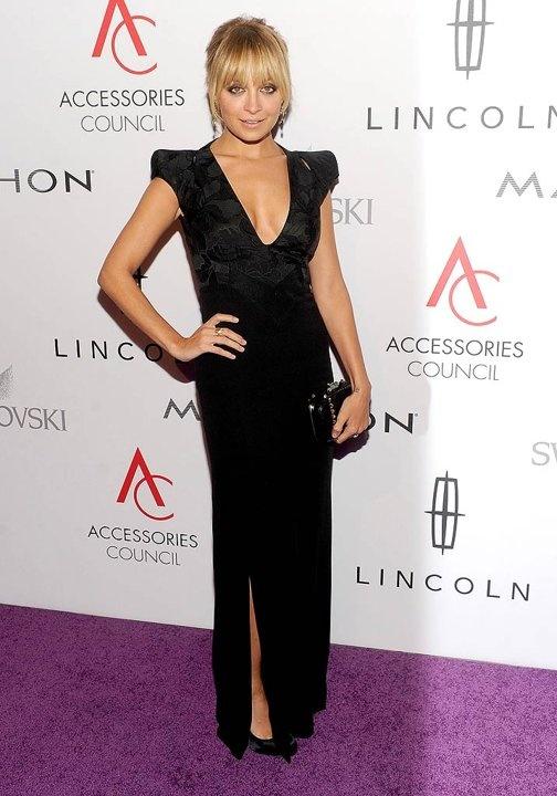 Nicole Richie Black Dress November 2017