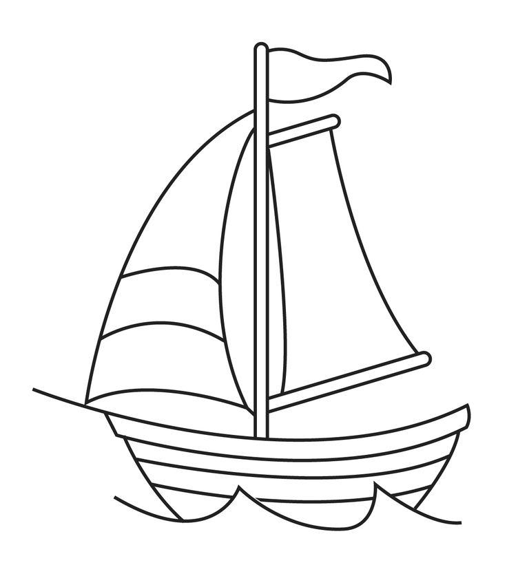 шаблон для картинки кораблик прошлом столетии
