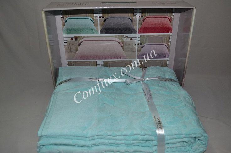 Махровая простынь Cestepe Vip Cotton - Turquoise Хлопок (200х220) - Турция, фото 3