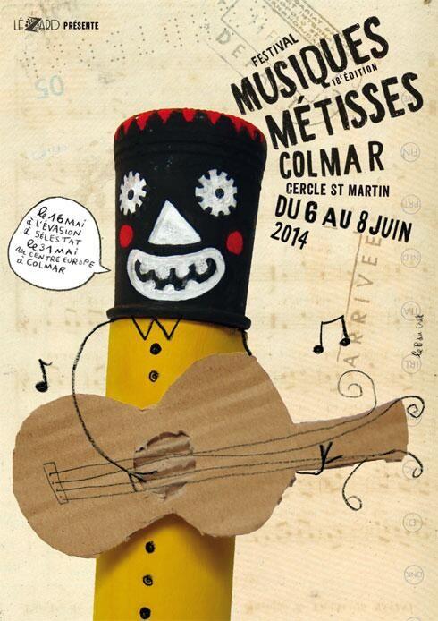 18e Festival des Musiques Métisses de Colmar. Du 6 au 8 juin 2014 à Colmar.