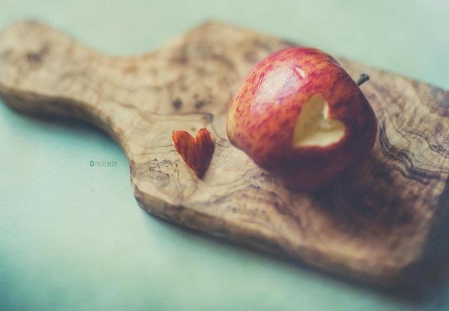 #lensbaby #stilllife by Photos By Zoe, via Flickr #apple #heart #aqua red #edge80  #seeinanewway