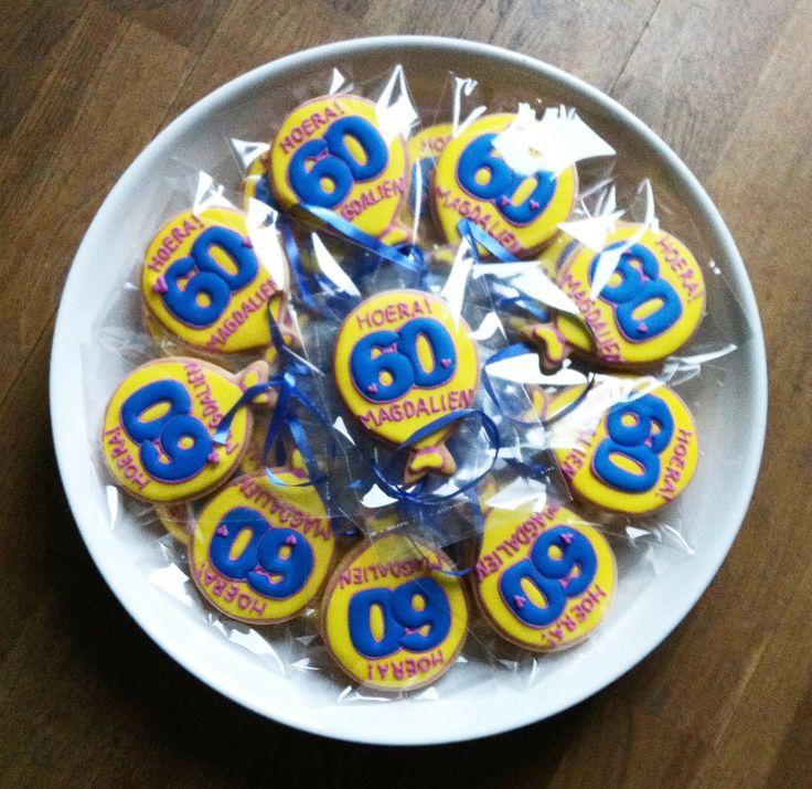 60e Verjaardag Ballonnen Koekjes / 60th Birthday Balloons Cookies