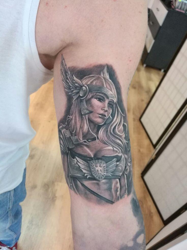 Freya!  #freya #vikings #tattoo #sleeve #saga #fantasy #warrior