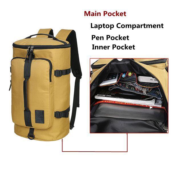 Men Travel Bag 40L High Capacity Backpack Water Repellent Oxford Outdoor Backpack