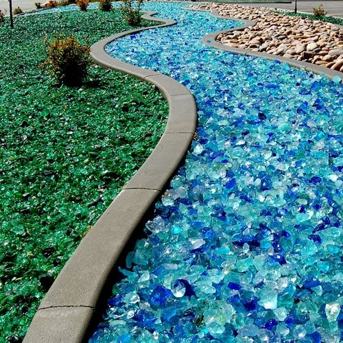 Tumbled Landscape & Firepit Glass,(made in USA) assorted colors, 25lb bag used in fire pits, gas fireplaces, fountains, etc. Shop Land & Garden: Adding Style to Your Home, Gardens and Outdoor Living.