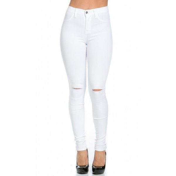 1000  ideas about White High Waisted Jeans on Pinterest ...