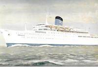 OCEAN LINER SS AMERIKANIS CHANDRIS LINE POSTCARD ...