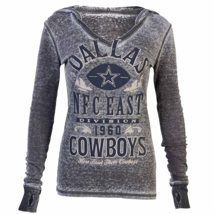 Dallas Cowboys Women's Pinehaven Thermal V-Neck Shirt - Gray