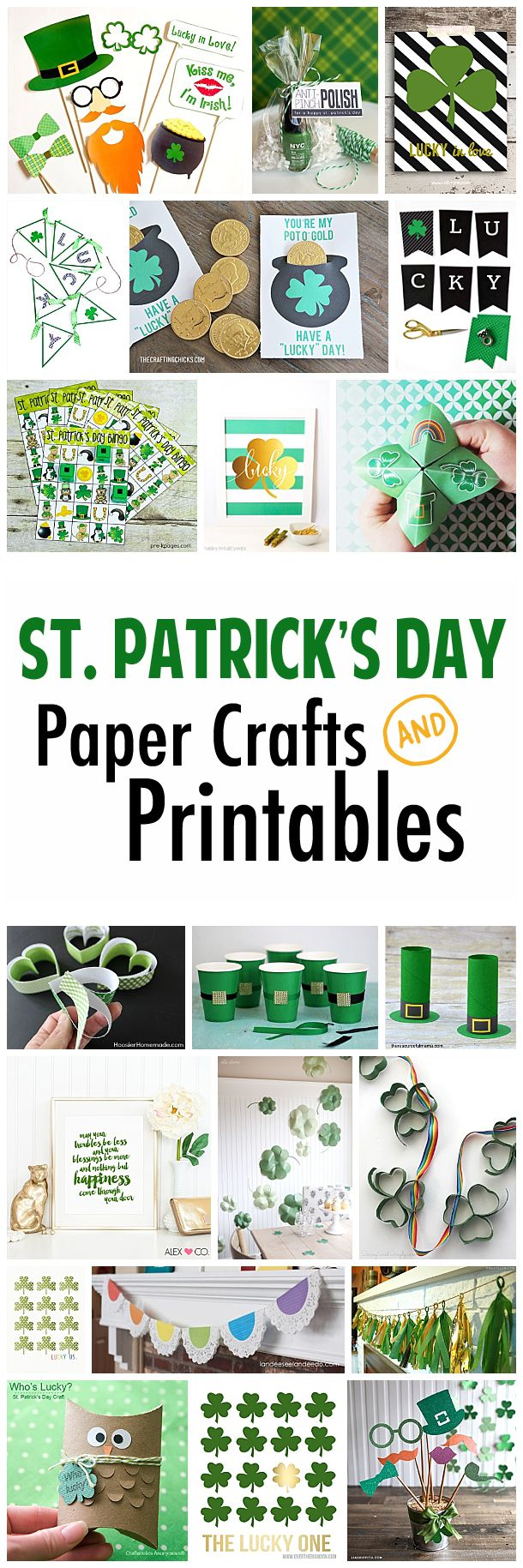 Fun printables and paper crafts to celebrate St. Patrick's Day!