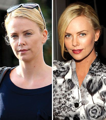 Charlize Theron: Charlize Theron, Make Up, Natural Celebrity, Theron Natural, Natural Beautiful, Makeup, Monsters, Lips Colors, Africans Beautiful