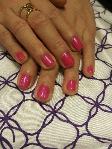 Hot pink! CND Shellac in Tutti Frutti at Nail Bar Four Seasons Hong Kong