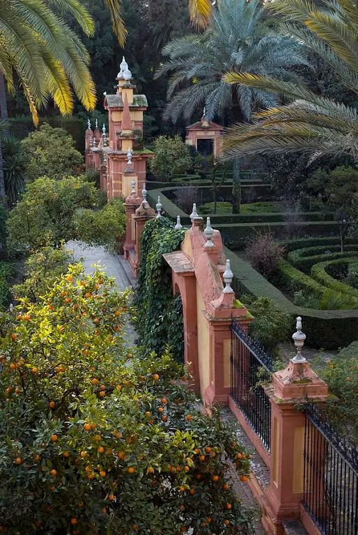 Photo: The gardens of the Alcazar Palace - Seville, Spain
