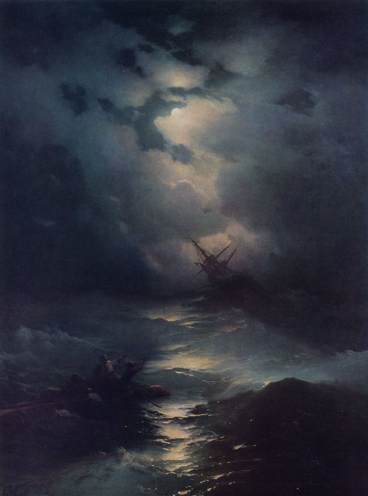 Storm in the North Sea, 1865 by Ivan Aivazovsky