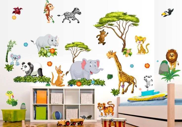 200 best kinderzimmer dschungel safari images on pinterest safari kids rooms jungle kids - Jungle wandtattoo ...