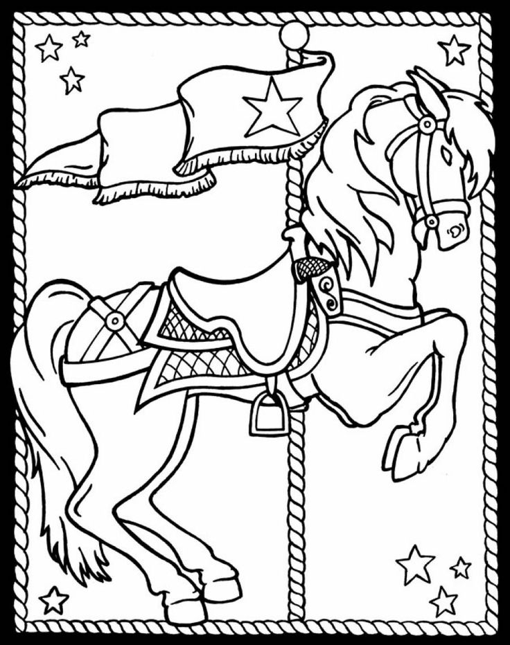 197 Best Carousel Images On Horses Coloring