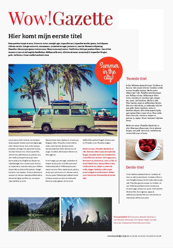 Uniek reisverslag in de vorm van een krant