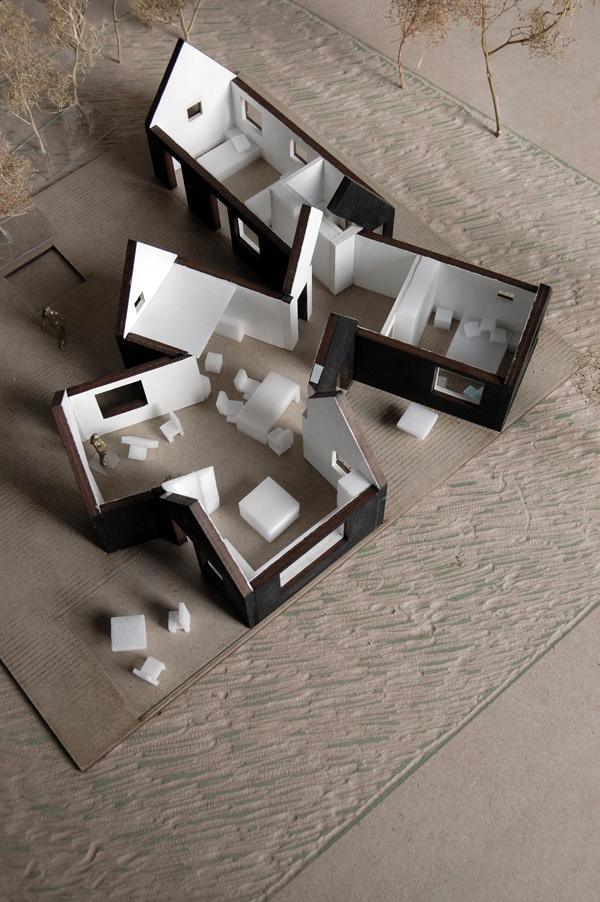 Village House by Powerhouse Company styro furniture, plaster base