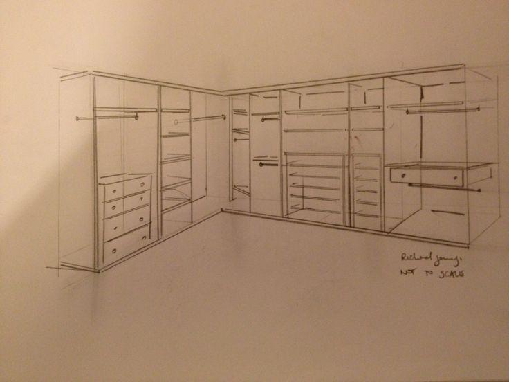 amusing wardrobe interior design | A rough sketch for a recent quote | wardrobe interior ...