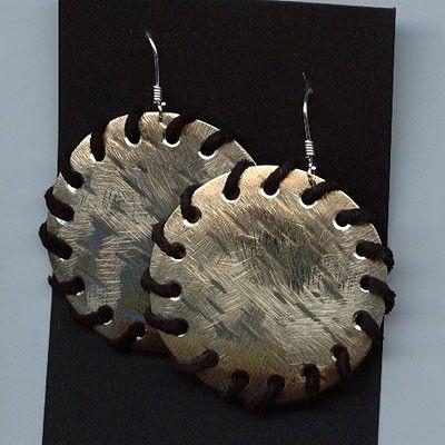 www.gallerysanivia.com  Handmade jewellery  Kolczyki z nowego srebra