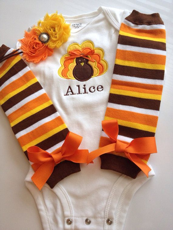 BABY girl Thanksgiving outfit on Etsy, $45.00