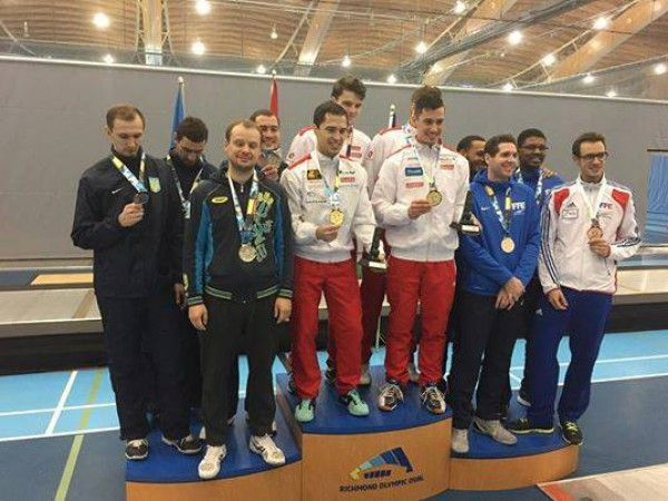 Ukraine team of epee fencers won silver medals of the World Cup