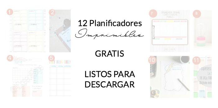 12 planificadores imprimibles y gratis. Y empieza el año con buen pie | Decorar tu casa es facilisimo.com