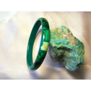 Hand crafted Malachite & bone bangle