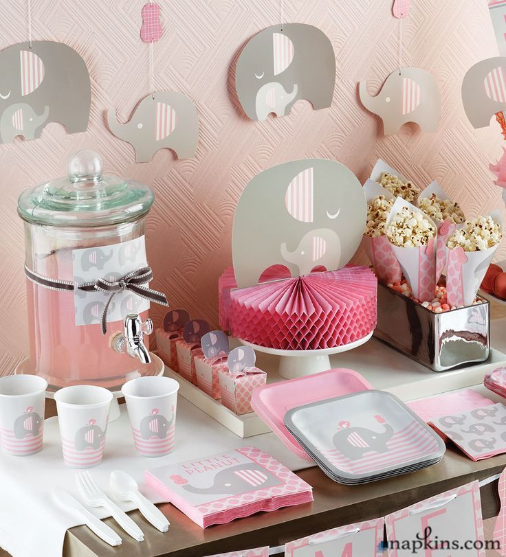 122 Best Pink Elephant Baby Shower Theme Images On