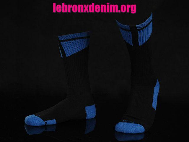University Blue Jordan AJ Dri-Fit Crew Sock Mens [Lebron X Denim 263]