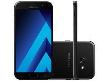 Smartphone Samsung Galaxy A5 2017 32GB Preto - Dual Chip 4G Câm. 16MP + Selfie 16MP Desbl. TIM  R$ 1.499,90em até 10x de R$ 149,99 sem juros no cartão de crédito