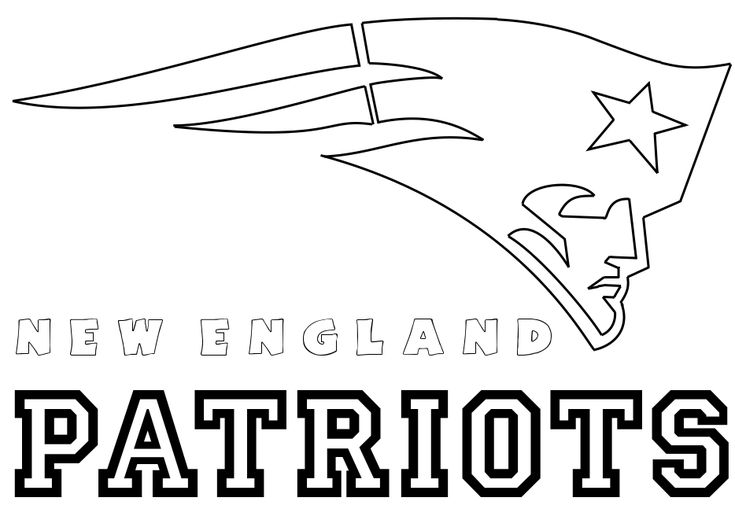 football coloring pages patriot - photo#6
