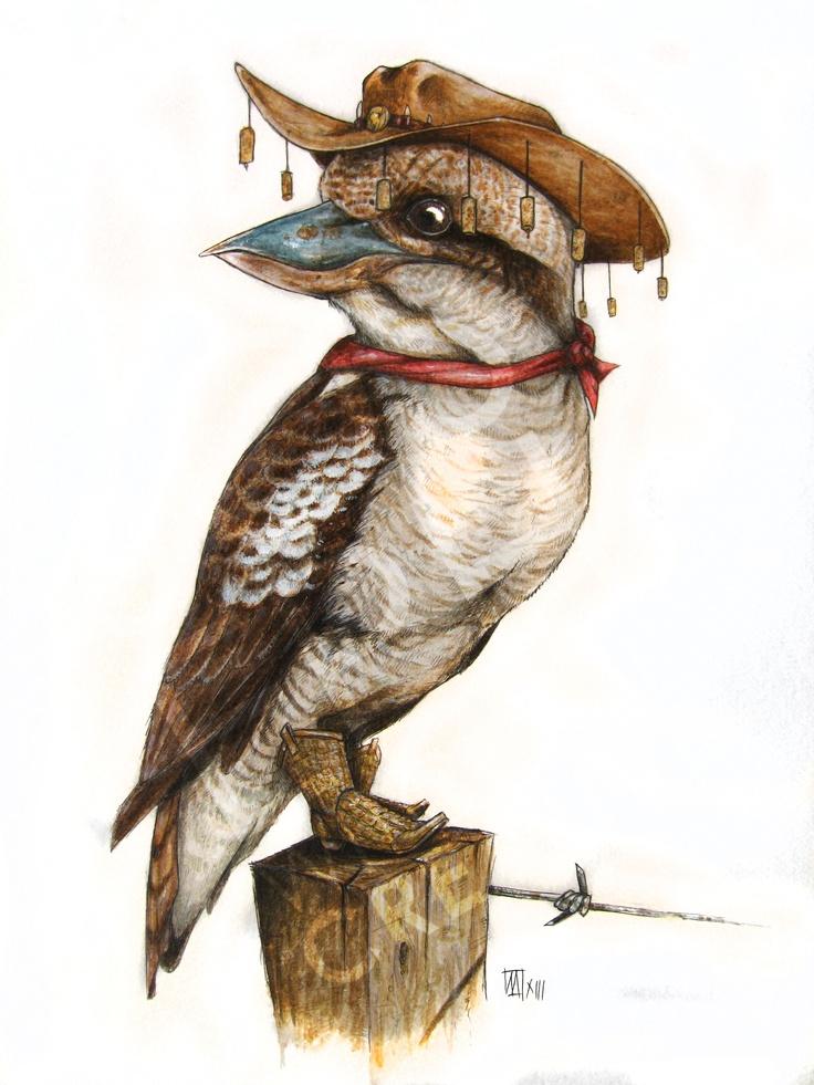 'Australian Kookaburra' - Watercolour mixed media on paper, By Joseph Witchall, 2013.