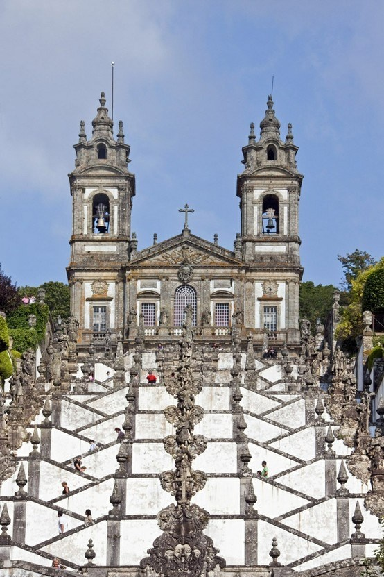 Stairway and church of Bom Jesus do Monte, Braga, Portugal