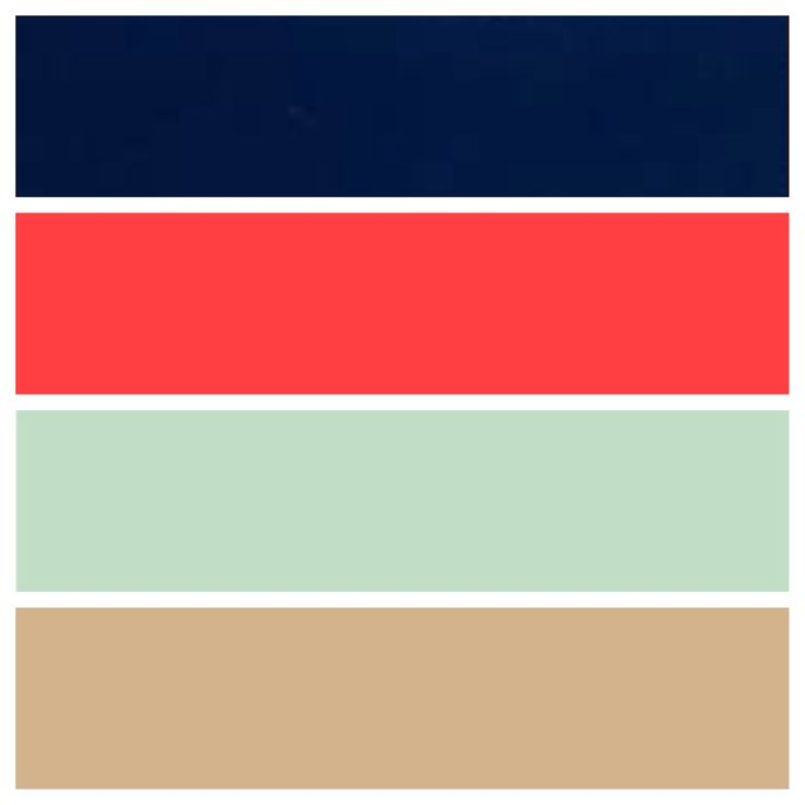 In case we need to settle for a summer/spring wedding! Navy blue, coral, mint green, and a hint of tan/nude :)