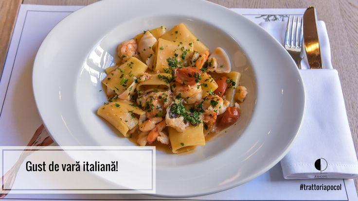 Paste cu fructe de mare. Pasta with seafood. Trattoria Pocol. Brasov. Delicacies. Food. Restaurant.
