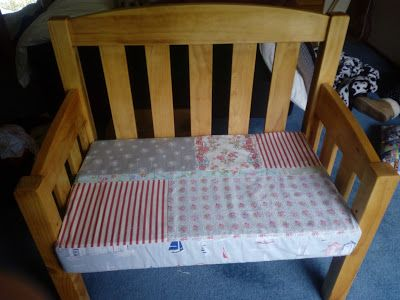 Made with my two hands: Upcycled cot mattress, now a bench seat