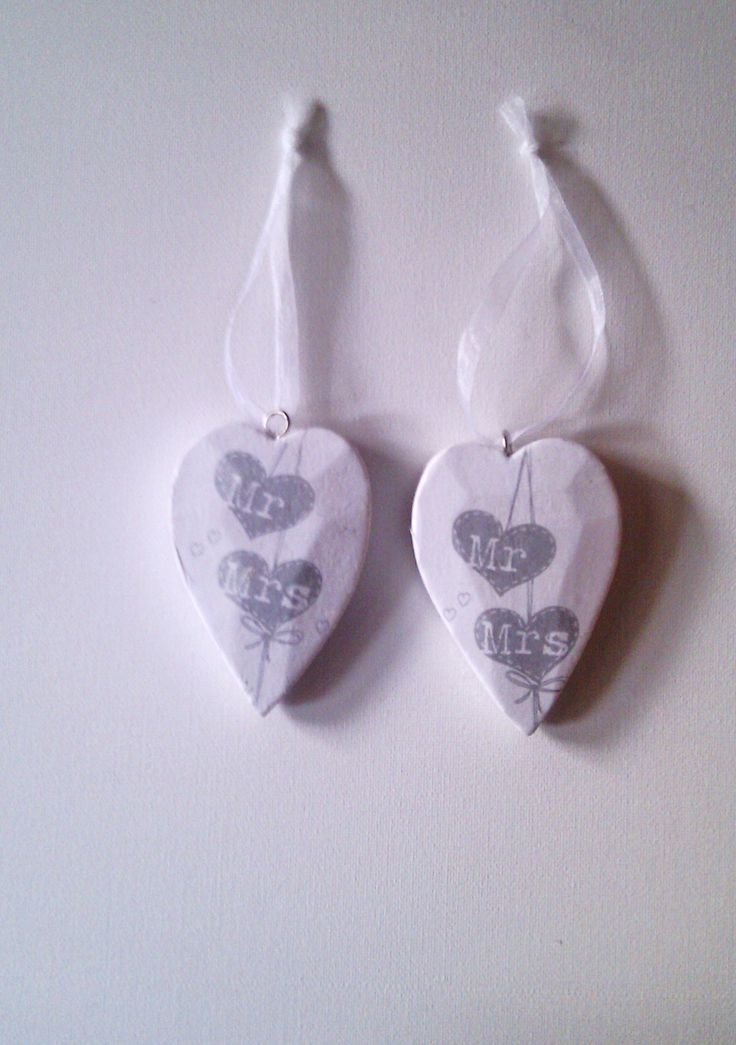Our beautiful Mr and Mrs vintage style wooden hearts are great for wedding favours, table decorations and accessories Prices start from £4.25