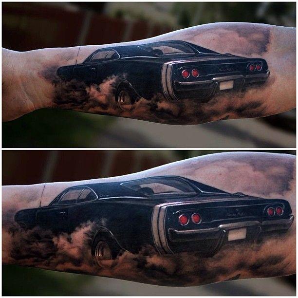 Love your car By Pontus Jonsson Tattooist at Alternative Art, Sweden