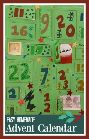 How to make a simple homemade Advent calendar with children