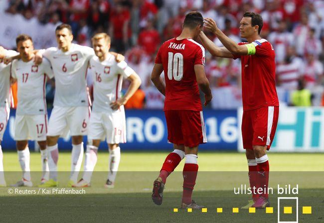 Schweiz - Polen 5:6 n.E. (1:1, 1:1 n.V.) | Achtelfinale in Saint-Étienne am 25. Juni 2016