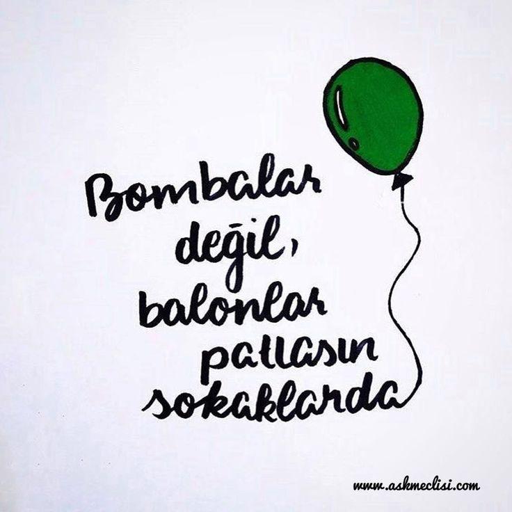 Bombalar değil, balonlar patlasın sokaklarda... #halep #haleptekatliamvar #halepölüyor #halep_yanıyor #haleptekatliamvarsessizkalma #halep😢