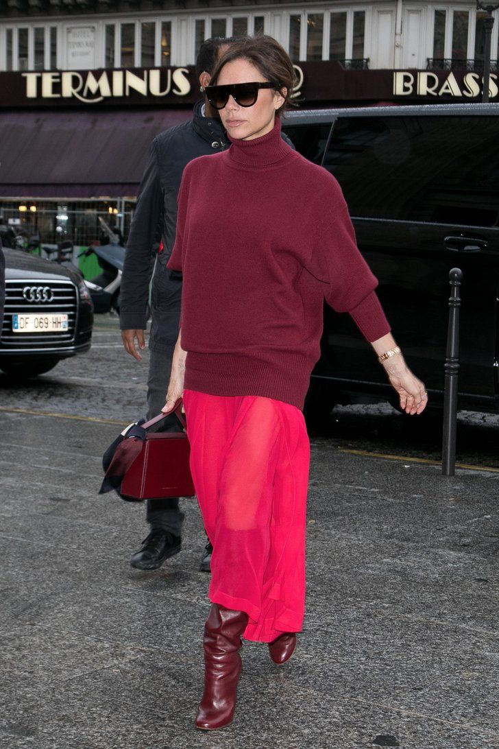 Victoria Beckham Wears an Outfit Straight Off the Runway